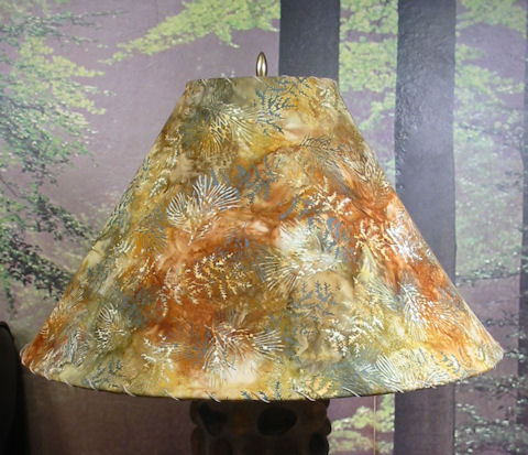 Pine Bough batik lampshade picture