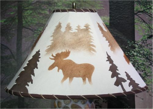 Large round forest mist elk shade picture
