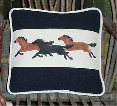 Horses Pillow Picture