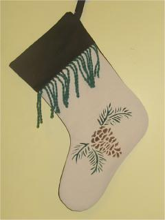 Pinecones Stocking