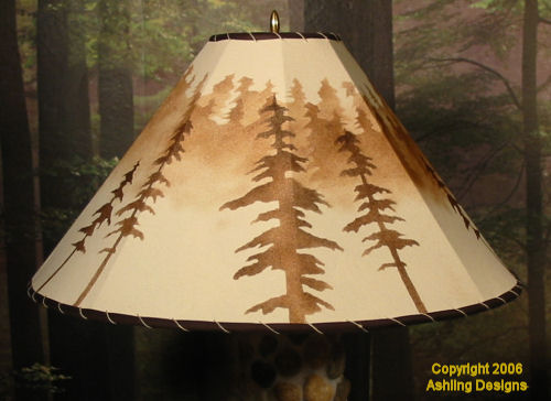 Extra Large Round Secret Forest with moose shade picture