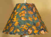 Fall Leaves Batik Lampshade